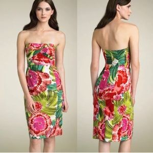 Nanette Lepore Dis Rose Strapless Sheath Dress